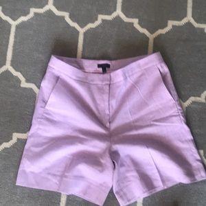 J.Crew light purple linen bermuda shorts